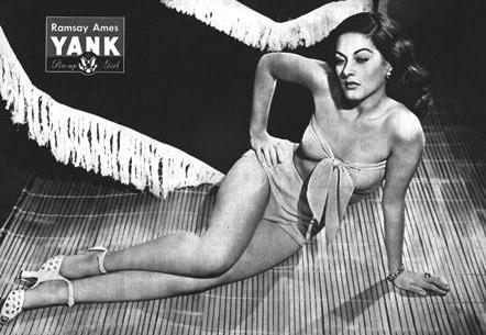 Ramsay Ames World War 2 Yank Pin UP April 20, 1945
