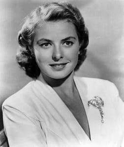 Ingrid Bergman Head Shot