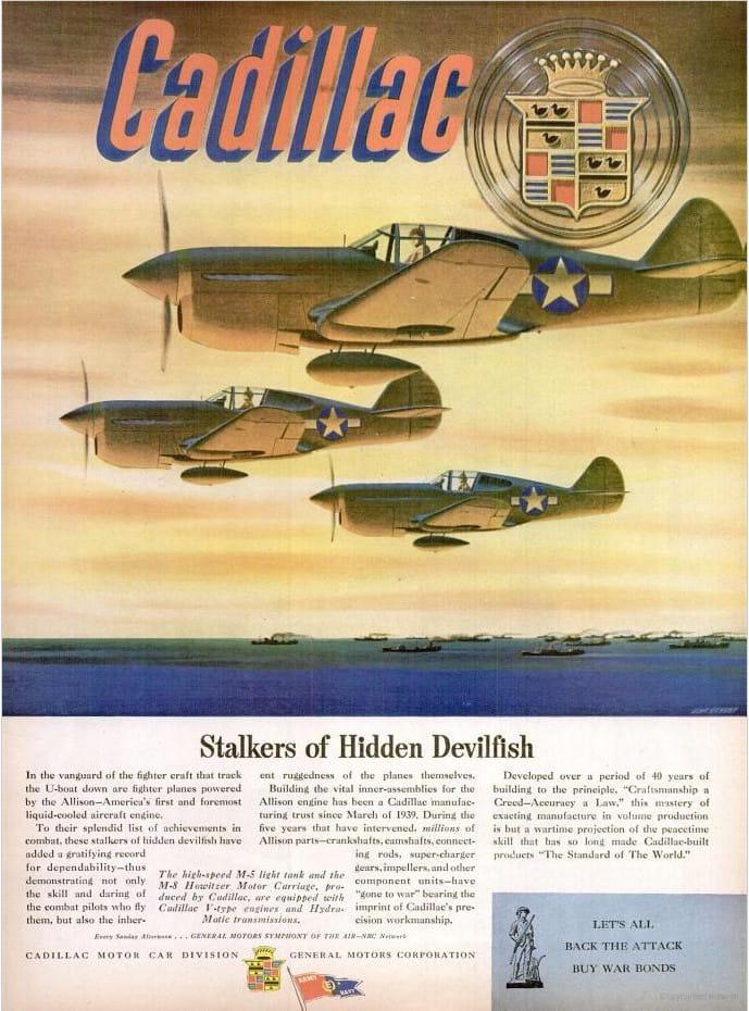 Cadillac P 40 Magazine Ad May 1944 World War Ii Magazine Ad
